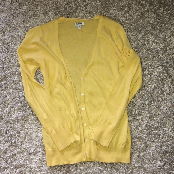 58% off Old Navy Sweaters - SALE!! Old navy, yellow, long cardigan ...