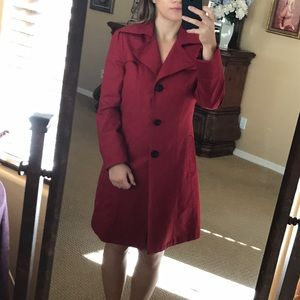 Kenneth Cole New York Red Coat