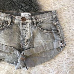 One teaspoon gray denim shorts