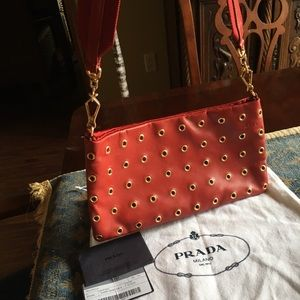 Prada leather Borchie bag