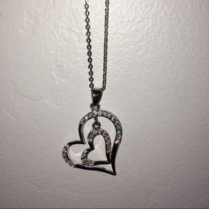 Brand New Macy's Double Heart Necklace