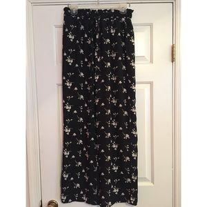 Xhilaration Wide Leg Floral Tie Waist Pants