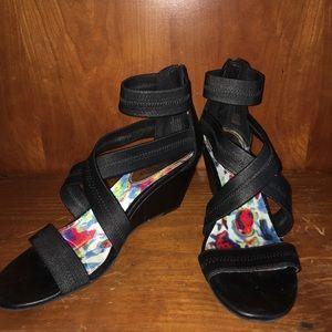 Madden Girl Black Wedge Heels