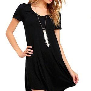 5a617cc4b63 Anthropologie Dresses   Cloth And Stone Black Vneck Tshirt Dress ...