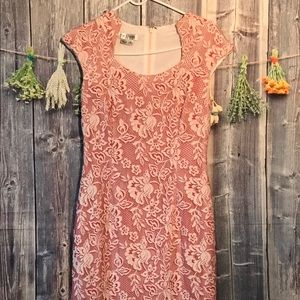 Kay Unger Lace Overlay Dress Size 8