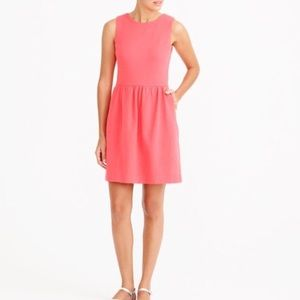 J. Crew pink coral daybreaker dress