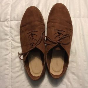 FOREVER 21 BROWN SEUDE LOAFERS