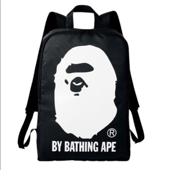 319fb1345569 Bape Bags | A Bathing Ape Black Backpack School Bag Japan Le | Poshmark