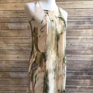 Simply Vera Wang Petite XS Floral Pleated Dress
