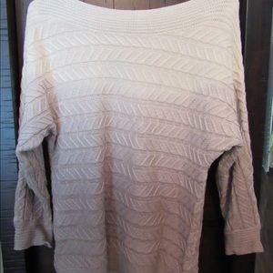 Ombré knit sweater