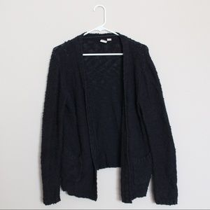Roxy Black Knit Buttoned Cardigan Sweater