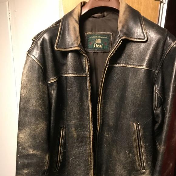 0f01ab96 Orvis Jackets & Coats | Mens Xl Leather Jacket | Poshmark