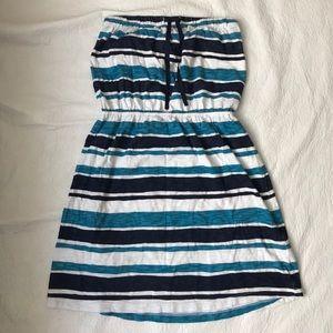 Gap strapless stripes dress