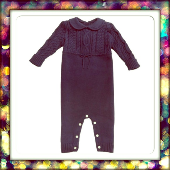 9feb5b53 {Ralph Lauren} baby Aran-knit Cotton Coverall NWT