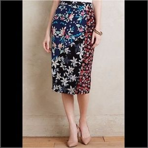 Anthropologie Yumi Kim Patterned Pencil Midi Skirt
