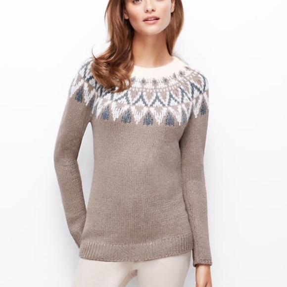 79% off Ann Taylor Sweaters - Ann Taylor Fair Isle Tunic Sweater S ...