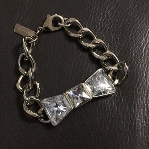 The Limited gold bracelet with faux diamond bow