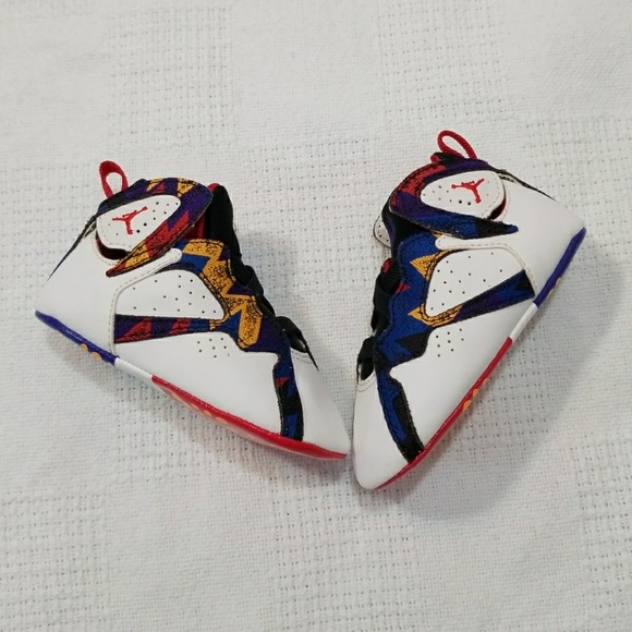 pretty nice ea470 0fd12 Retro 7 Baby Jordan Soft Bottom Sneakers Sz 4C
