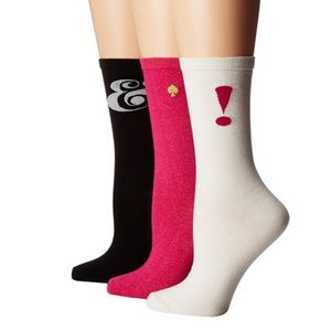 Bundle of 3 pairs of Kate spade symbol socks