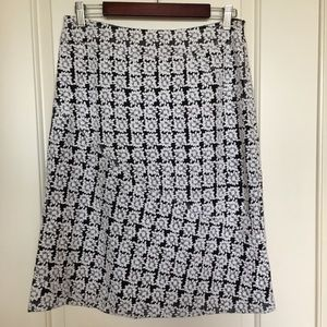 Etcetera silk skirt daisy embroidered sz 6