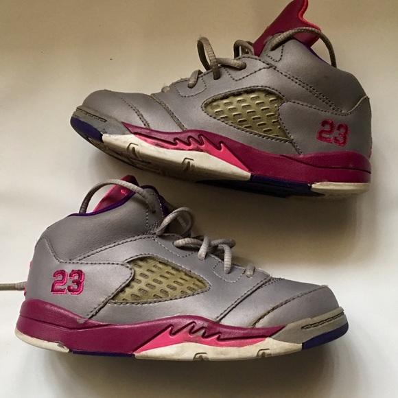 Nike Air Jordan V 5 Retro SZ 9C toddler girls