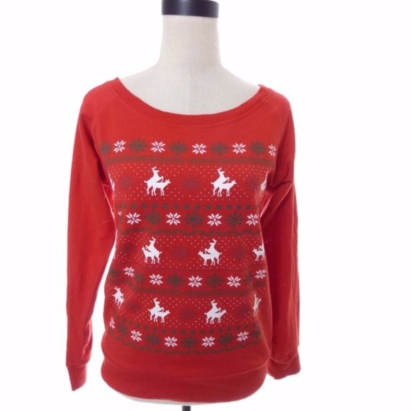 00d8905cc33 Spencers Sweaters   Ugly Christmas Sweater Humping Reindeer   Poshmark