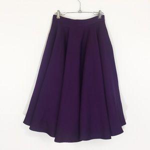 Dresses & Skirts - Akira Chicago Deep Violet Full Midi Circle Skirt