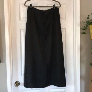 Gap dark gray long skirt