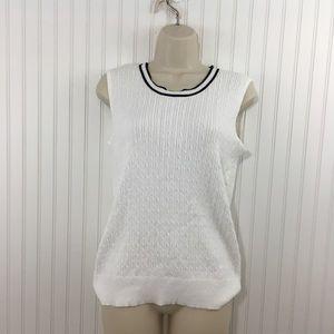 Croft & Barrow Sweater Vest Cable Knit Cotton vest
