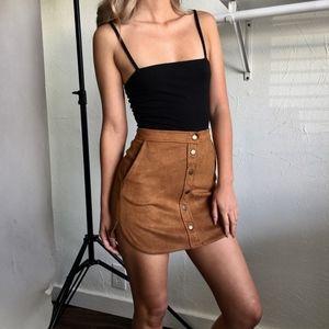 Dresses & Skirts - Tan Suede Mini Skirt
