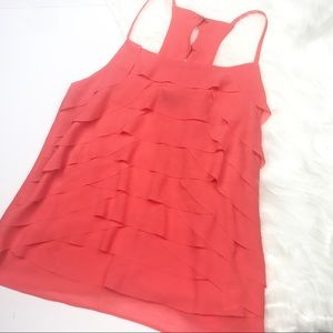 NWT Francesca's Collections Tiered Hot Pink Blouse