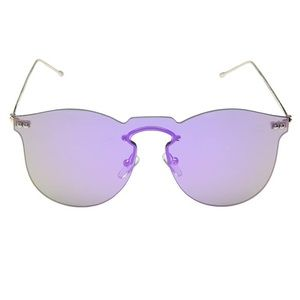 Betsey Johnson purple lens frameless sunglasses