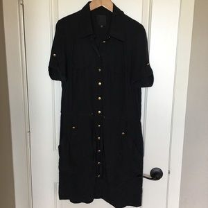 Black silk shirt dress sz 12.