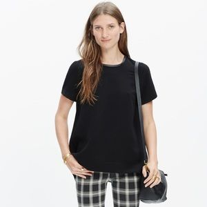 Madewell leather trimmed tailored tee