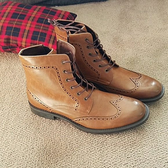 ff7b7e819c4 Unlisted by kenneth cole tan boots NWT
