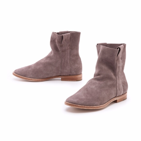 bae0f8a6224f Joie Shoes - Joie Pinyon Suede Flat Booties