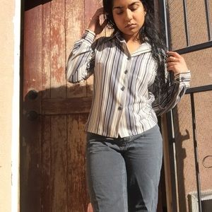 Tops - Vintage Striped Blouse