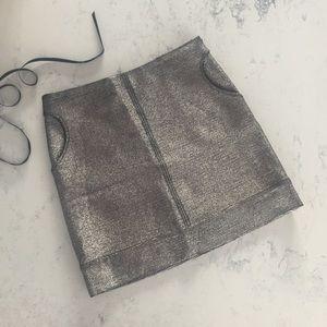 Diane von Furstenberg Metallic Katinko Mini Skirt!