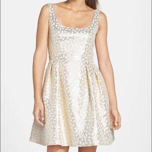 NWT: Shoshanna Gold & Cream Dress