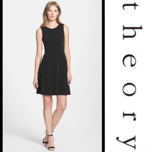 Theory Nikay W A-line Dress - Black, P/XS