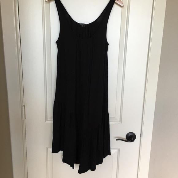 Theory Dresses & Skirts - Theory black dress sz small, ruffle hem