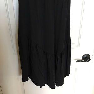 Theory Dresses - Theory black dress sz small, ruffle hem