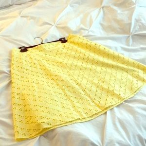 yellow knee length skirt from Ann Taylor