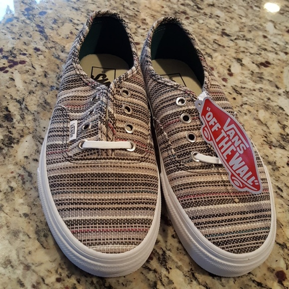 a52fcfb9e8c5 NIB Vans Authentic Textile Striped shoes