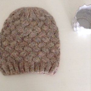 Pink-Multicolor Knit Hat Urban Outfitters