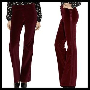 2b10e419a Tory Burch Pants - tory burch    tux stripe velvet flares pants NWT