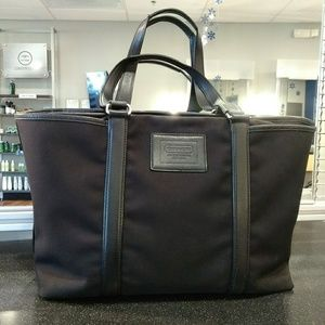 Extra large black coach bag