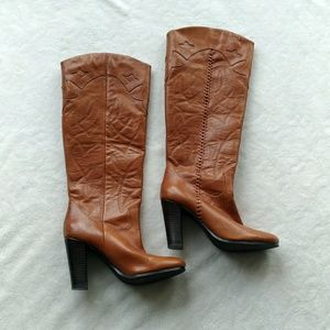 Steve Madden Tangled  tall leather heel boots