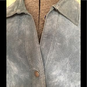 C. J. Banks Jackets & Coats - C.J.Banks light blue suede coat.