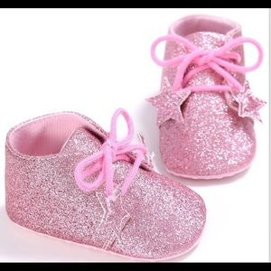 Other - Pink Glitter Sparkle Baby Bootie Shoes 6-12 Months